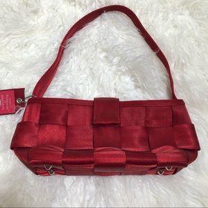 Detroit by Harvey's red woven seatbelt mini bag